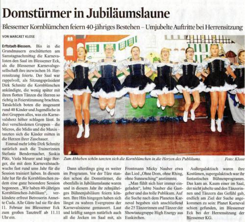40-jähriges Jubiläum Zeitungsausschnitt
